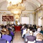 Napoli 1989, Salone di Villa Pignatelli: Convegno della CNUPI sugli Itinerari del Barocco; alla presidenza dei lavori il prof. O. Ferulano