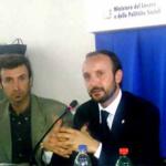 Al microfono: Enrico Maria Borrelli, Presidente dell'AMESCI e dell'Università Popolare del Servizio Civile è membro del Consiglio Direttivo della CNUPI e Segretario della stessa.