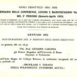 Calendario delle attività della Università Popolare Romana per l'anno 1955 (soltanto la prima pagina).