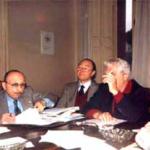 Il prof. Ferulano con alcuni colleghi predispone i lavori congressuali che porteranno alla fondazione della CNUPI, siamo nel 1982